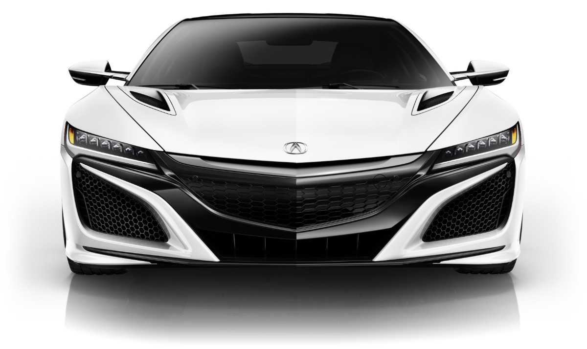 Acura NSX Colors 130R White Racing Heritage Front View