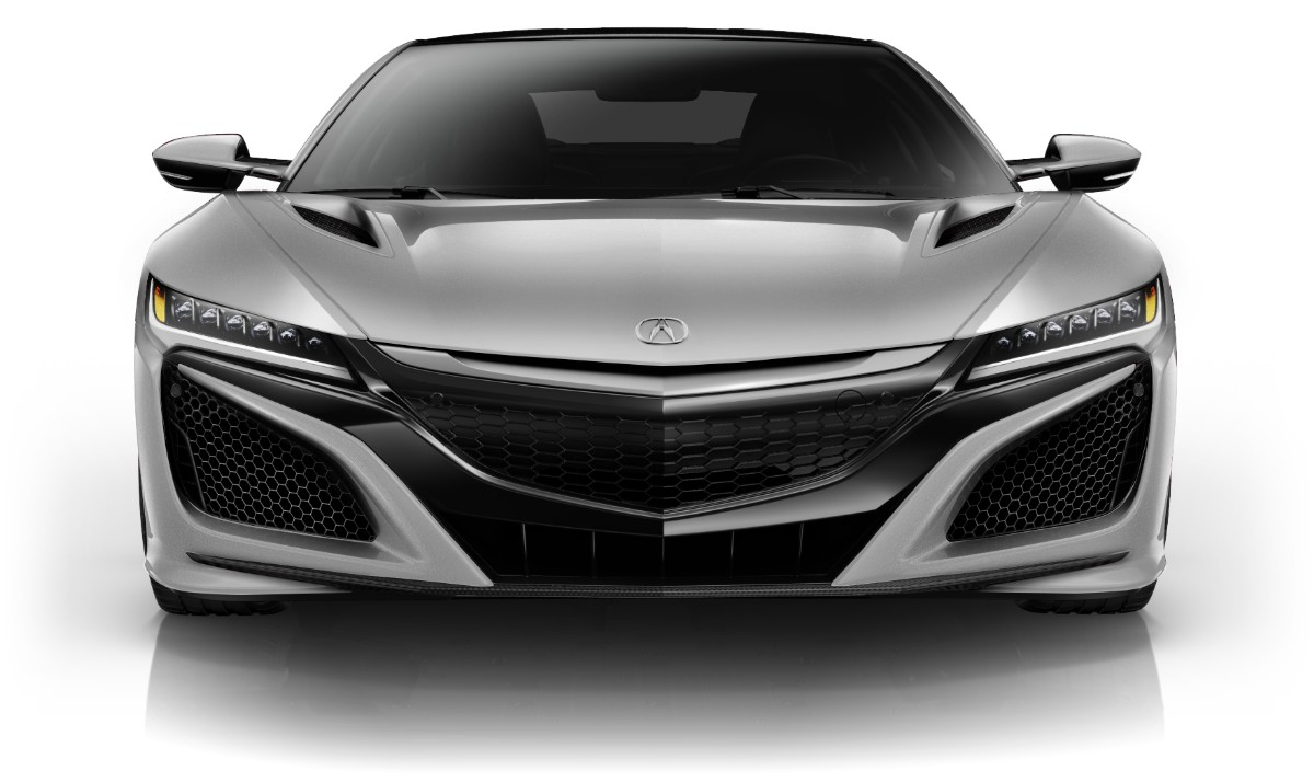 Acura NSX Colors Casino White Pearl Front View