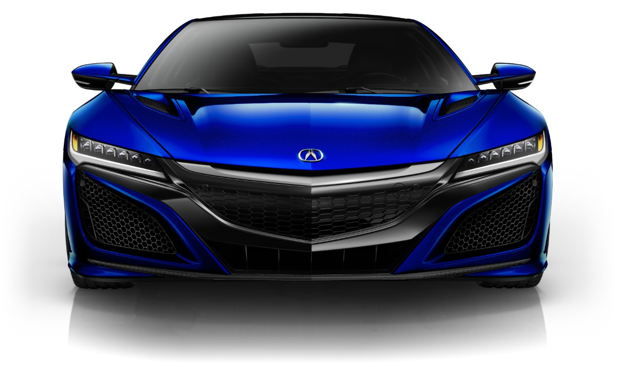 Acura nsx 2018 acura acura nsx paint novelle blue pearl front view malvernweather Image collections