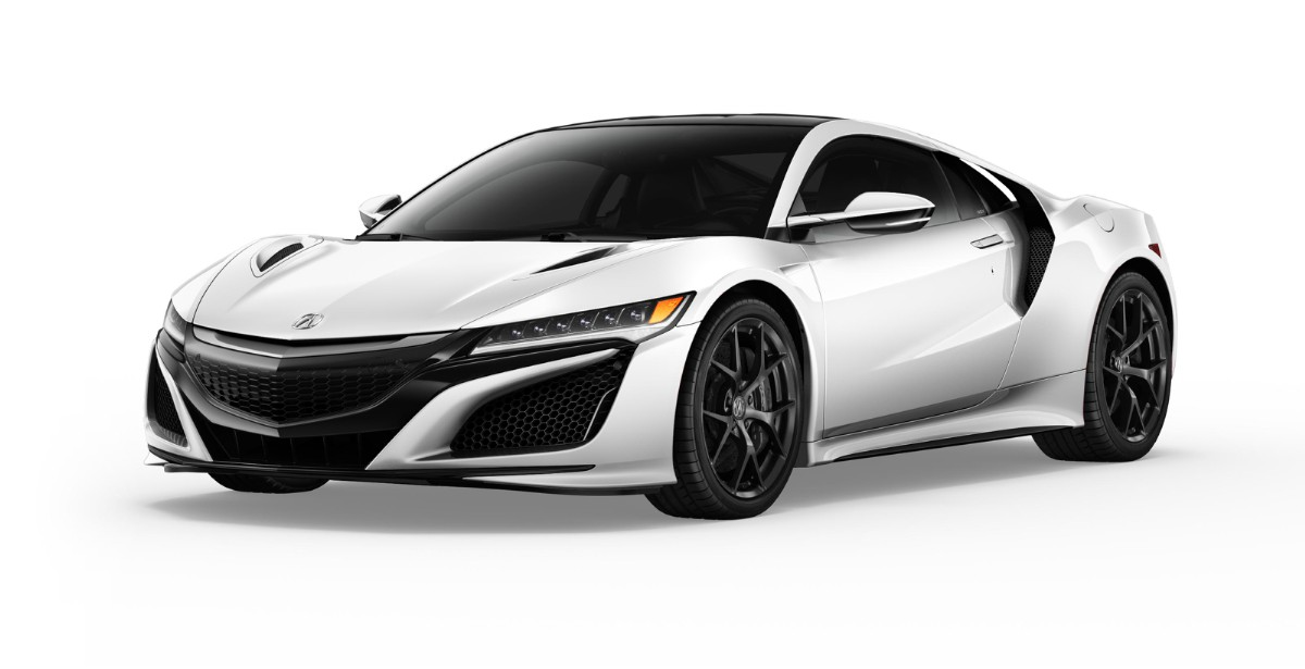 Acura NSX 3/4 View Slide To View Suspension.