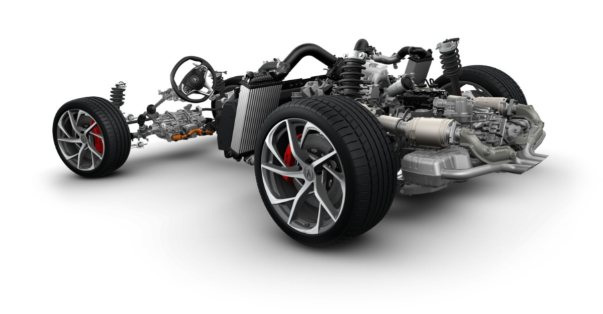 acura nsx rear 34 view rolling chassis