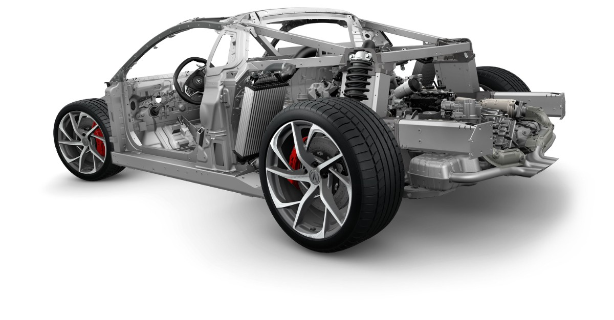 Acura NSX Rolling Chassis With Multi Material Space Frame.