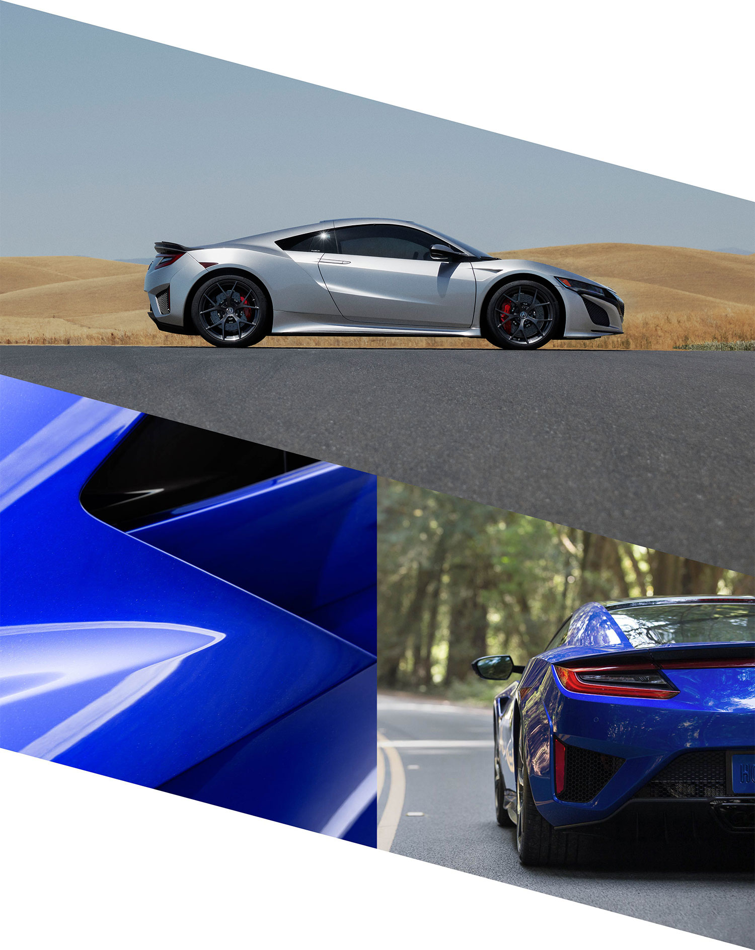 ... NSX presents purity of form in graceful lines weaving through  aggressively sculpted planes. Elegant design language creates intriguing  contrasts from ...